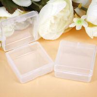 10pcs Clear Plastic Small Box Jewelry Earplugs Container Storage Case Square