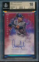 2017 Topps Inception Aaron Judge Red Auto RC BGS 10 Pristine Rookie NYY #d /75