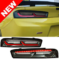 2016-2018 Chevrolet Camaro Smoke LED Tail Light w/ RED Sequential LED Signal