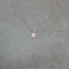 Circle Tag ROSE GOLD Plated Necklace Jewelry in Gift Box Disc Circular Pendant
