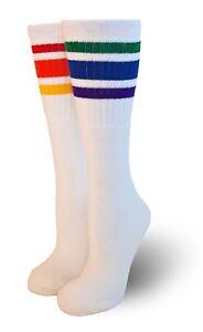 Pride Socks Rainbow Under the Knee High Striped Tube Socks