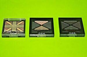 (3) Rimmel Glam'Eyes HD Quad Eye Shadow #004 ;#24 & #26 Sealed