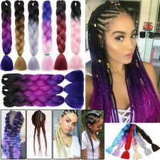 Ombre Kanekalon Xpression Jumbo Braid Real Braiding Sew Hair Extensions 58colors