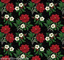 NOEL chrétiens Roses Patchwork substances Noël Fleurs Tissu de Noël substances substances