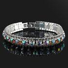 Women Crystal Rhinestone Bangle Bracelet Charm Wedding Party Bridal Jewelry Gift