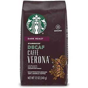 Starbucks Decaf Ground Coffee Caffè Verona 100% Arabica SHELF SALE