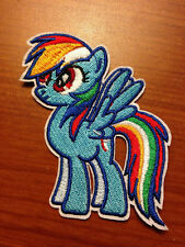 """3"""" Hasbro My Little Pony RAINBOW DASH Iron-on Embroidered PATCH!"""