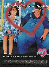 Publicité Advertising M  FM  la radio des tubes