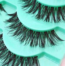 Natural Long Handmade Black Thick Fake False Eyelashes Lashes Makeup 5 Pairs
