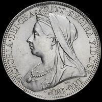1901 Queen Victoria Veiled Head Silver Florin, UNC