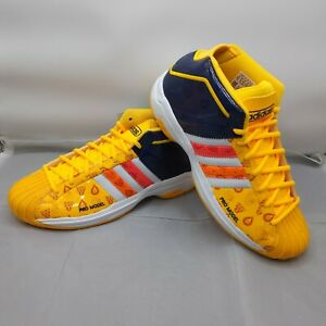 Adidas Pro Model 2G FV8387 Orange Basketball Yellow Navy RARE Men's 9.5