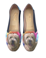 Doodle Vegan Leather Slip ons Shoes, pet lovers, women shoes