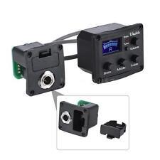 Ukulele Ukelele Uke Black Piezo Pickup Preamp 3-Band EQ Equalizer Tuner System