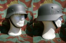 Elmetto tedesco M40, stahlhelm, casco, WW2 German shell helmet, decal guscio