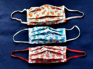 Cotton Adults Comfortable Fabric Face masks 😷  Washable Floral Face Coverings
