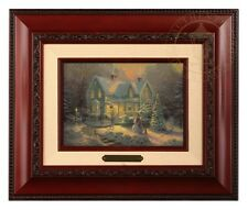Thomas Kinkade Blessings of Christmas - Brushwork (Brandy Frame)
