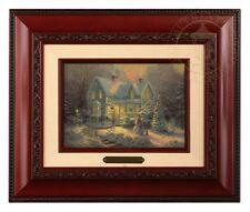 Thomas Kinkade Blessings of Christmas - Brushwork (Brandy Frame)