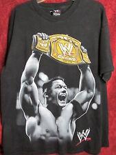 World Wrestling 2006 WWE CHAMPION, BLACK T-Shirt,  John Cena, size XL