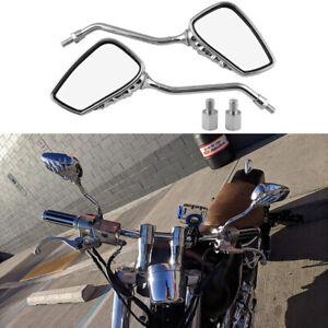 For Honda Rebel 250 CMX250C Chrome Skeleton Skull Hand Motorcycle Wing Mirrors