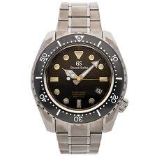Seiko Grand Seiko Hi-Beat 36000 Diver Auto Titanium Mens Watch Date SBGH255