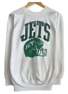 "Vtg New York Jets 1980's Women's Sz XL Double Sided ""Defense Defense"" Sweatshirt"