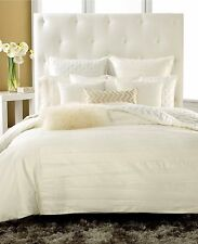 "INC International Concepts Velvet Pleat 18"" Square Decorative Pillow IVORY B153"