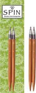 "ChiaoGoo SPIN IC Bamboo 5"" (13cm) Circular Knitting Needle Tips"