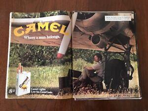 Original Vintage 1980s CAMEL Lights Cigarette Tobacco Print Ad