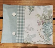 Laura Ashley Gingham Wisteria Duck Egg floral bolster Cushion Covers 12x16''  BN