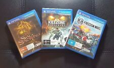 PS Vita Games Bundle - PSVITA *NEW / SEALED Soul Sacrifice Killzone Freedom Wars