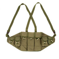 Vietnam War Chinese Army Canvas Type 56 Ammo Chest Rig Bandolier Pouch Green