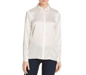 ELIE TAHARI US Designer 100% SILK Shirt  Blouse Top Size 16 AU (XL) RRP $349