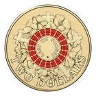 RED 2015 Anzac $2 Coin Two Dollar Coin