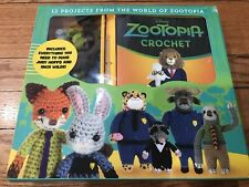 Disney Zootopia Crochet Kit Supplies for Judy Nick plus Pattern Book 12 projects