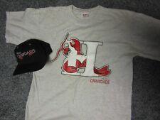 2 PC Lot VTG Hickory Crawdads Minor LeagueBaseball Cap t-Shirt Michael Jordan