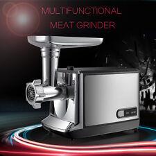 Steel Industrial Kitchen Food 2000W Electric Meat Grinder Mincer Sausage Maker