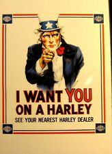 Harley-Davidson( Framed ) I want you on a Harley Print Ebony-Glass 11x17 FS FSH