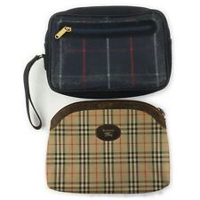 Burberrys PVC Canvas Clutch 2 pieces set 517490