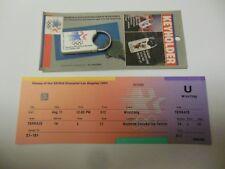 1984 LOS ANGELES OLYMPICS WRESTLING TICKET AND OLYMPICS KEYHOLDER RARE