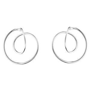 Georg Jensen. Sterling Silver Earrings #554B - ALLIANCE - Large