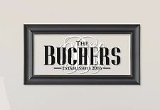 Personalized Family Name Picture Frame Sign Plaque 11x21 Buchers