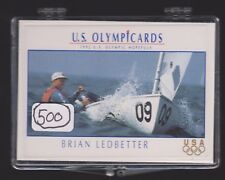 (500) 1992 US OLYMPIC HOPEFULS BRIAN LEDBETTER CARDS #61 ~ GIANT LOT ~ SAILING