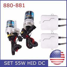 55W HID Xenon Bulb Headlight Conversion KIT 6000K 880/881 9004 9007 H1 Ballast