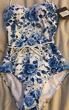 Sunseeker Australia Light Blue Swimming Costume Swim Suit Swim Wear UK 6 US 4