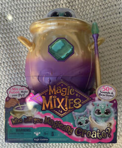 "Magic Mixie Magical Misting Cauldron w/ Interactive 8"" Blue Plush Mixies IN HAND"