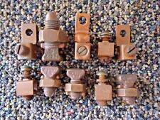 Vintage Mixed Lot Of Ilsco,Burndy,Other Brass / Copper Electrical Lugs