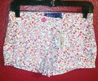 Women's MILEY CYRUS MAX AZRIA Floral Shorts Size 5 New with Tags