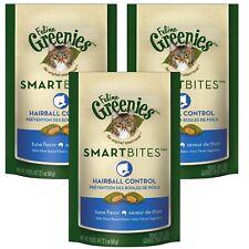 Feline Greenies Smartbites Hairball Remedy 2.1 oz Tuna   3 PACK   Cat Treats