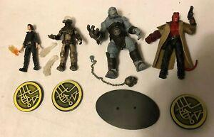 "MEZCO Hellboy II The Golden Army 4"" figure set Hellboy, Liz, Wink, Johan"
