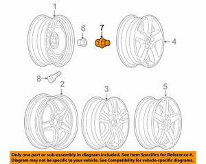 Wheel Cap W/Nut GENUINE GM 9593229